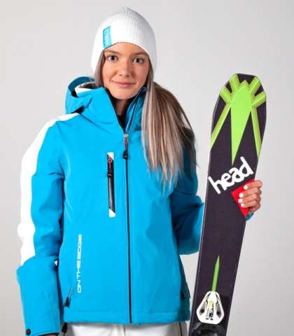 women's winter jacket blue-white